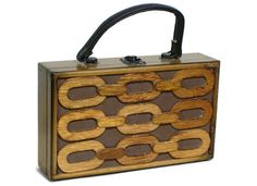 Japanese Wooden Purse. Rare Geometric Wood Box Tote by ValidHeart, $34.50