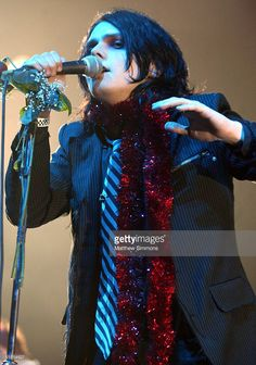 Musician Gerard Way of My Chemical Romance performs at KROQ's Almost Acoustic Christmas at Universal Amphitheater December 12, 2004 in Universal City, California (Matthew Simmons)