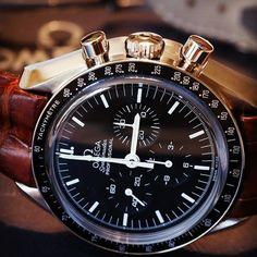 ⌚ Handsome Omega SpeedMaster watch, with brown handcrafted suede padded strap ⭕ Omega Speedmaster Watch, Omega Watch, Handsome, Watches, Luxury, Brown, Accessories, Wristwatches, Clocks
