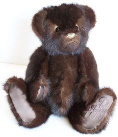Check this out- this bear was handmade using an old mink coat
