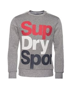 Superdry Athletico Crew Sweatshirt In Dark Gray Sweatshirts Online, Crew Sweatshirts, Hoodies, Superdry Mens, Unisex Baby Clothes, Women's Socks & Hosiery, Trendy Plus Size, Active Wear, Graphic Sweatshirt