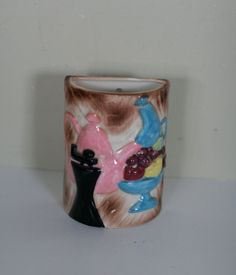 vintage ceramic wall pocket vase by suesuegonzalas on Etsy