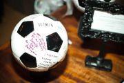 soccer ball guest book!