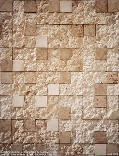 Scarpa Marble.    A wall in the courtyard of the Museo di Castelvecchio is clad in patterns of pink Verona marble by architect Carlo Scarpa.