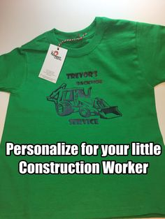 Cute, Cute, Cute! Thats all I can say about this adorable tshirt. Personalize this tshirt for your little guy. Make your little one feel like he is part of the business, whether it be pretend of one Just Like Daddy/Uncle/Grandpas work shirt. Perfect Grandparent, Aunt, Uncle, or God parent gift. Your little will want to give you a big old Bear Hug for this gift!   Weight 5 Oz  Sizes XS, S, M, L, XL Features: • 100% cotton preshrunk jersey • high-density fabric for exceptional printing…