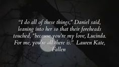 fallen lauren kate quotes - Google Search