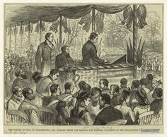 The Fourth of July in Philadelphia : Mr. Richard Henry Lee reading the original document of the Declaration of Indepence. Richard Henry Lee, John Hanson, My Ancestry, Declaration Of Independence, New York Public Library, Fourth Of July, American History, Philadelphia, The Past