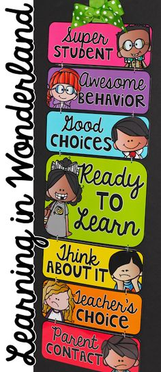 Learning in Wonderland Clip Chart - If I had an elementary classroom, this would be in it! $
