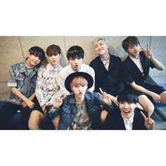 Take a trip down memory lane with two years worth of BTS photos ❤ liked on Polyvore featuring bts