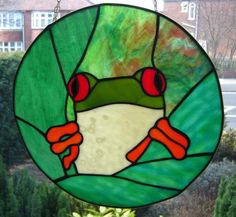 Free Patterns for stained glass Frogs | Medium Sized Stained Glass Pieces