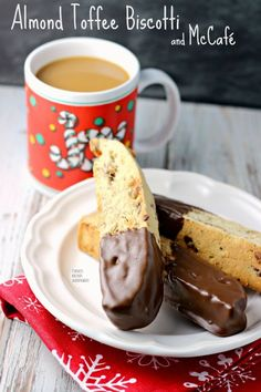 Almond Toffee Biscotti | Renee's Kitchen Adventures Perfectly dunkable ...