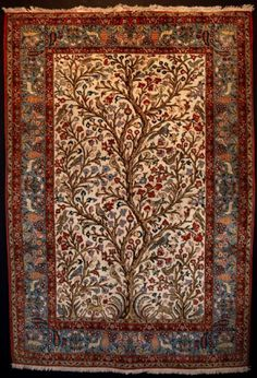 Color and pattern - Tree of Life Persian Rug