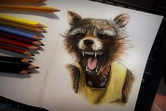 Inspiration by Rocket Racoon from Guardians of the Galaxy (really amazing film ;P)