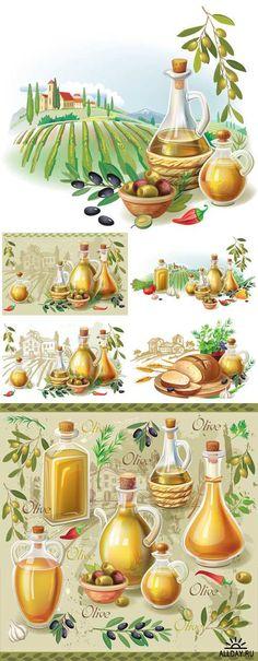 Olive harvest against rural landscape