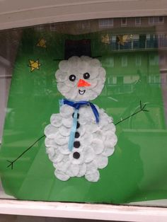 First snowman to be up in our Green Lanes N16 and local roads Snowman Trail. Great!