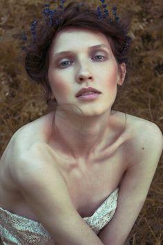 Romantic makeup and hair. editorial shoot by caitlin bellah