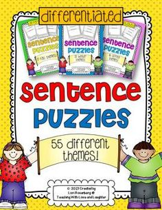 Sentence puzzles are a wonderful activity to help young learners practice reading, writing, spelling, conventions, and grammar. Many of the sentence puzzles are fact based, making for even more meaningful learning!My sentence puzzles are differentiated to accommodate all ability levels.Please click on the links below to see the full product descriptions for each season.Fall Themed Sentence PuzzlesWinter Themed Sentence PuzzlesSpring Themed Sentence PuzzlesClick the links below to see other…