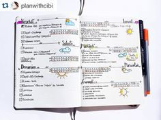 Gorgeous #weeklyspread  from @planwithcibi. I love the compact #time #tracker. And the #weather #doodles  are adorable. ・・・ This week in my BuJo!  I really have to improve my Weather doodles!😂 #bulletjournal #bujo #daily #dailylook #leuchtturm #doodle #lettering #handlettering #bujojunkies #bulletjournal #erincondren #happyplanner #passionplanner #eclp #inkwellpressplanner #plumpaperplanner #organized #teachersfollowteachers #showmeyourplanner