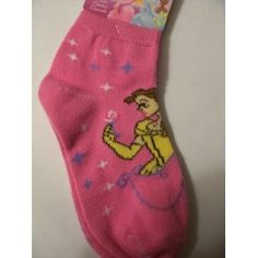 Disney Girls Socks ~ Choose from Minnie, Tinkerbell, or Belle (Size 4-6, Shoe Size 7-10) (Minnie - Oh My): Baby
