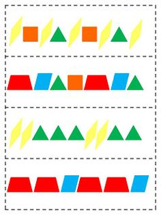 Growing patterns with pattern blocks. | Math | Pinterest | Pattern ...