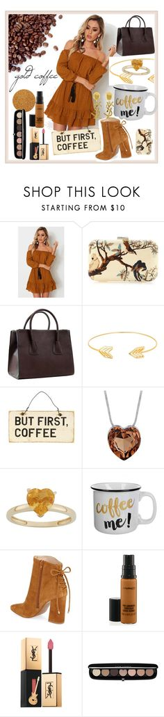 """gold and coffee"" by b-arce-gualde ❤ liked on Polyvore featuring Silvia Furmanovich, Dasein, Lord & Taylor, Kristin Cavallari, Yves Saint Laurent, MAC Cosmetics and Marc Jacobs"