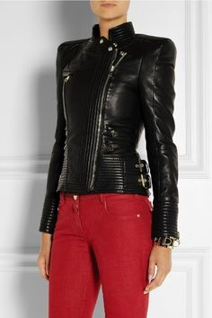 80 Most Stylish Leather Jackets for Women in 2017  - You cannot say that your wardrobe is complete if you do not have a leather jacket. Leather jackets are highly essential for women in different seasons... -  women-leather-jackets-2017-57 .