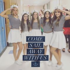 Easy Sailor Costumes for teen girls.  Diy