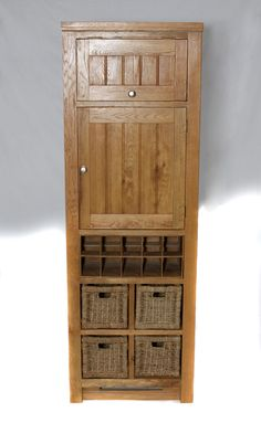 204 - Larder with multiple storage options. Space for 10 wine bottles.