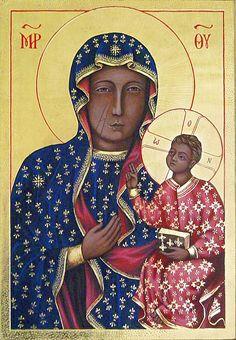 Icons - Blessed Virgin Mary - The Studio of John the Baptist : sacredart.co.nz Religious Icons, Religious Art, Madonna, John The Baptist, Blessed Virgin Mary, Sacred Art, Metal Art, Religion, Spirituality