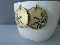 Hey, I found this really awesome Etsy listing at https://www.etsy.com/listing/110209336/large-gold-earrings-in-brass-rustic