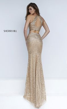 Sherri Hill 50087  2016 Gold Formal Dress