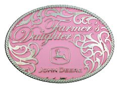 (MS61547) John Deere Farmer's Daughter Belt Buckle