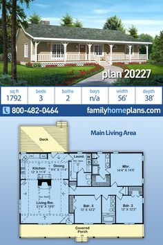 Simple House Plans, Family House Plans, Best House Plans, Duplex House Plans, Ranch House Plans, House Floor Plans, Country House Design, Country Style, Br House