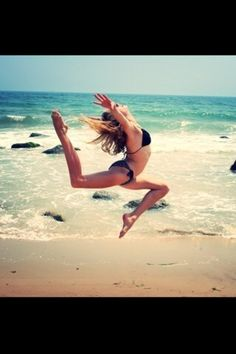 Gymnastics on the beach! Love it for photography too!