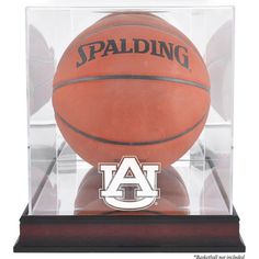 Auburn Tigers Fanatics Authentic Mahogany Antique Finish Basketball Display Case with Mirror Back - $99.99