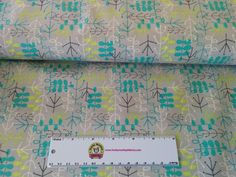 Lime/Teal Twigs - 1/2 yard - Funky Monkey Fabrics Inc.