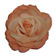 """Elisabeth Rose Artificial Flower Hair Clip/Pin Brooch, Peach Cream by Yves Decor. $11.90. Flower: Elisabeth Rose. Height: 2 1/2"""". Diameter: 5"""". Closure: Round Metal Pin/Clip. Color: Peach Cream. This beautiful hair clip/pin brooch, is handmade with high quality materials, leaving you with a silk flower that blooms far beyond the cheaper alternatives. This is the highest quality fashion flower pin/clip!"""