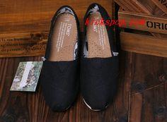 Toms Classic Mens Shoes Black Canvas