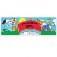 Personalised Zoo Banner