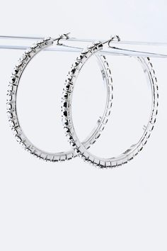 Hoops smothered in crystals. Sexy!  https://www.krisandkate.com/dealoftheday.html#  $17