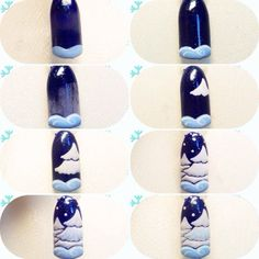 On the eve of the New Year holidays almost the most popular nail design can be called herringbone ma Nail Art Noel, Xmas Nail Art, Holiday Nail Art, Winter Nail Art, Winter Nails, Popular Nail Designs, Nail Art Designs Videos, Christmas Nail Art Designs, Winter Nail Designs