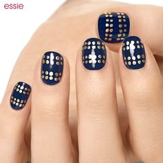 Essie nail polish with gold dots