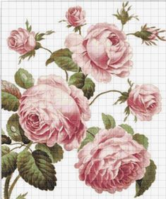 This Pin was discovered by Yel Just Cross Stitch, Cross Stitch Flowers, Cross Stitch Charts, Funny Cross Stitch Patterns, Cross Stitch Designs, Rose Embroidery, Cross Stitch Embroidery, Crochet Cross, Cross Stitching