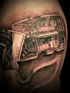 White Manna Hamburgers tattoo  Hackensack, NJ New Jersey