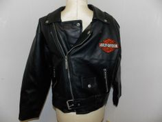 Youth HARLEY DAVIDSON BOYS Riding Jacket Black Size 12-14