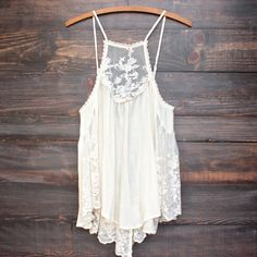 Los cabos lace tank in natural ef2b9ed81