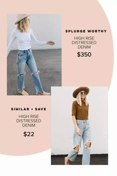 Splurge vs save, high end denim, target denim, target style, target finds, target fashion #LTKSpringSale#LTKunder50 #LTKstyletip