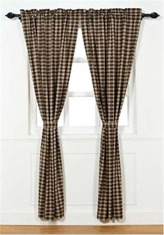"Our Truman Lined Panel Curtains 84"" are a nice plaid pattern that will provide color and interest to your windows while also providing some privacy. https://www.primitivestarquiltshop.com/products/truman-lined-panel-curtains-84 #countrystylecurtains"