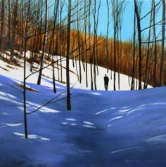 Walking to the Woods Sara Colby (2013) Acrylic on canvas 20in × 20in × 1in Current Bid: $850  #art #montreal ARTBOMB: BUY WHAT YOU LOVE