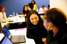 Angelica Pineda, 23, in one of her classes at Year Up in San Francisco, Calif., Thursday, July 23, 2015. Photo: Sarah Rice / Special To The Chronicle / ONLINE_YES